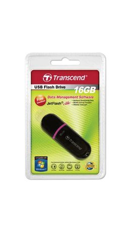 Флэш-диск 16 GB, TRANSCEND JetFlash 300, USB 2.0, черный, TS16GJF300
