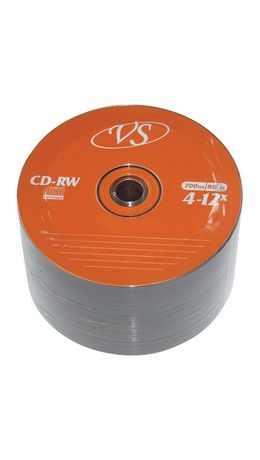 Диски CD-RW VS, 700 Mb, 4-12x, 50 шт., Bulk, VSCDRWB5001